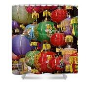 Chinese Holiday Lanterns Shower Curtain