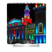 Holiday Lights 2012 Denver City And County Building A1 Shower Curtain