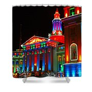 Holiday Lights 2012 Denver City And County Building B2 Shower Curtain