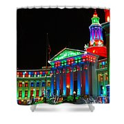 Holiday Lights 2012 Denver City And County Building C1 Shower Curtain