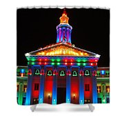 Holiday Lights 2012 Denver City And County Building D3 Shower Curtain