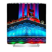 Holiday Lights 2012 Denver City And County Building E3 Shower Curtain