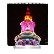 Holiday Lights 2012 Denver City And County Building F4 Shower Curtain
