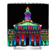 Holiday Lights 2012 Denver City And County Building G1 Shower Curtain