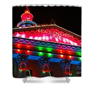 Holiday Lights 2012 Denver City And County Building L1 Shower Curtain