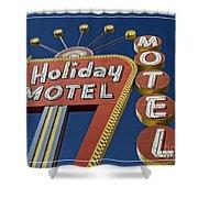 Holiday Motel Las Vegas Shower Curtain by Edward Fielding
