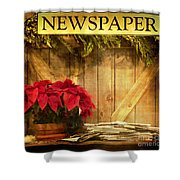 Holiday News Shower Curtain