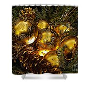 Holiday Ornaments Shower Curtain