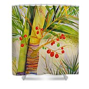 Holiday Palm Shower Curtain