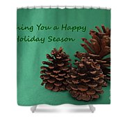 Holiday Pine Cones Shower Curtain