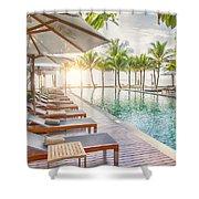 Holiday Resort Shower Curtain