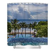 Holiday Resort With Jacuzzi And Pool Shower Curtain