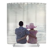 Holiday Romance Shower Curtain