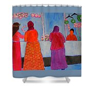 Holiday Shoppers On Prince Island Shower Curtain