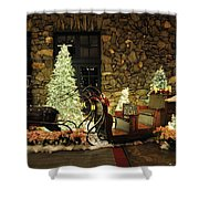 Holiday Sleigh Hsp Shower Curtain