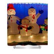 Holiday Snowmen 2 Shower Curtain