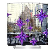 Holiday Stars Shower Curtain