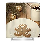 Holiday Treats Shower Curtain by Juli Scalzi