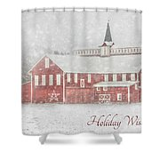 Holiday Wishes Shower Curtain