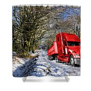 Holidays Are Coming  Shower Curtain