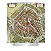 Holland: Gouda Plan, 1649 Shower Curtain