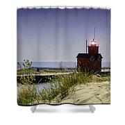 Holland Harbor Light  Shower Curtain