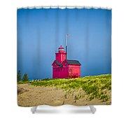 Holland Harbor Lighthouse Mi Shower Curtain