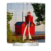 Holland Lighthouse Shower Curtain