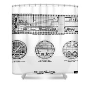 Holland Tunnel Construction Shower Curtain