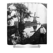 Holland Windmill, C1906 Shower Curtain
