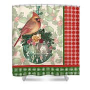 Holly And Berries-a Shower Curtain