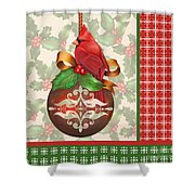 Holly And Berries-b Shower Curtain