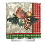 Holly And Berries-c Shower Curtain