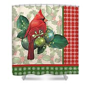 Holly And Berries-d Shower Curtain