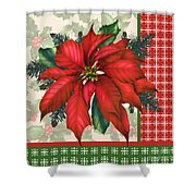 Holly And Berries-h Shower Curtain