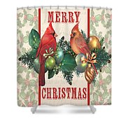 Holly And Berries-i Shower Curtain