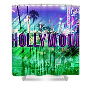 Hollywood Day And Night Shower Curtain