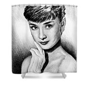 Hollywood Greats Hepburn Shower Curtain