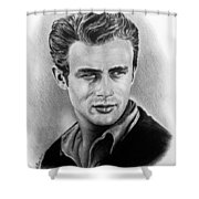 Hollywood Greats James Dean Shower Curtain