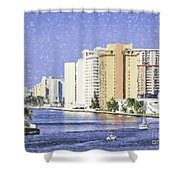 Hollywood In Florida Shower Curtain
