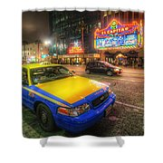 Hollywood Taxi Shower Curtain
