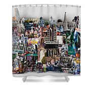 Hollywood Tourist Shower Curtain