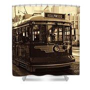 Hollywood Trolley Shower Curtain
