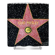 Hollywood Walk Of Fame Elvis Presley 5d28923 Shower Curtain