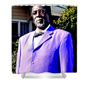 Hollywood Wearing His Dress Suit And Bow Tie Color Photo Usa Shower Curtain
