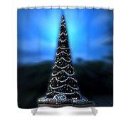 Hollywood Xmas Tree Walt Disney World Shower Curtain