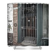 Holmes Block Building Shower Curtain