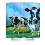 Holstein Amoogos Shower Curtain