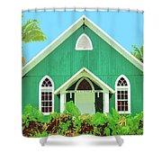 Holuoloa Church Shower Curtain
