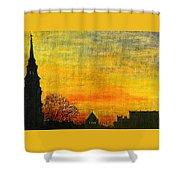 Holy City Sunset Shower Curtain